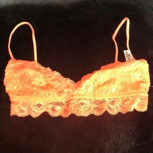 Intimately by Free People Neon Orange Bralette XS